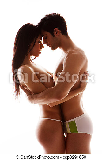 Couple in Love Cuddling - csp8291850