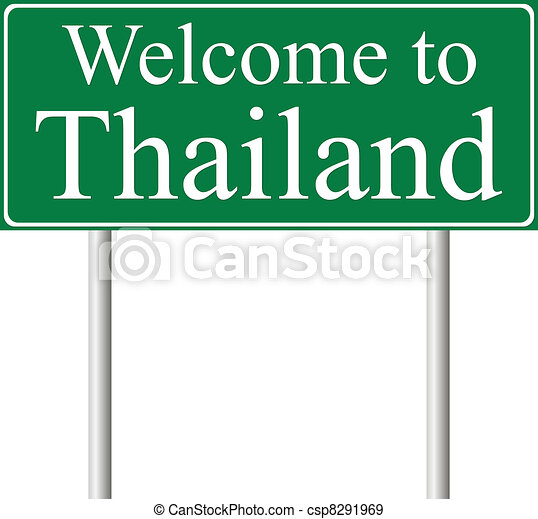 Welcome to Thailand, concept road sign - csp8291969