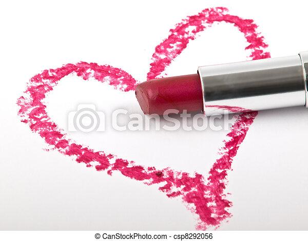 hart and lipstick - csp8292056