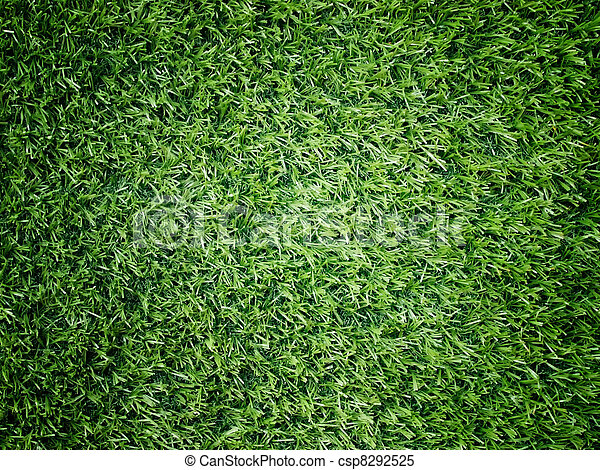Texture and surface of green turf center light