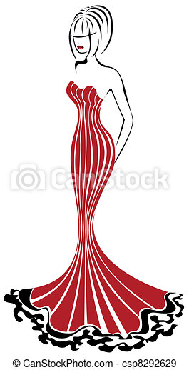 Woman in Red - csp8292629