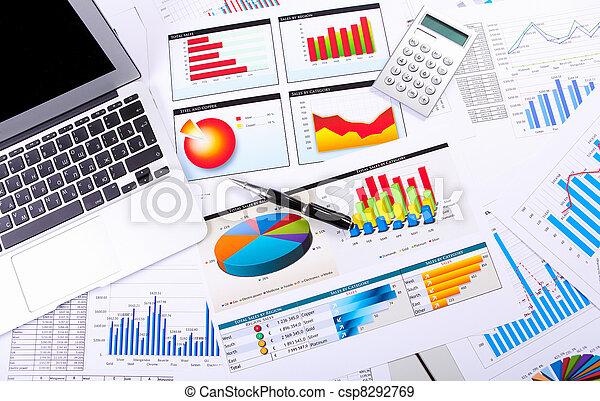 tabelle, tavola, grafici, affari - csp8292769