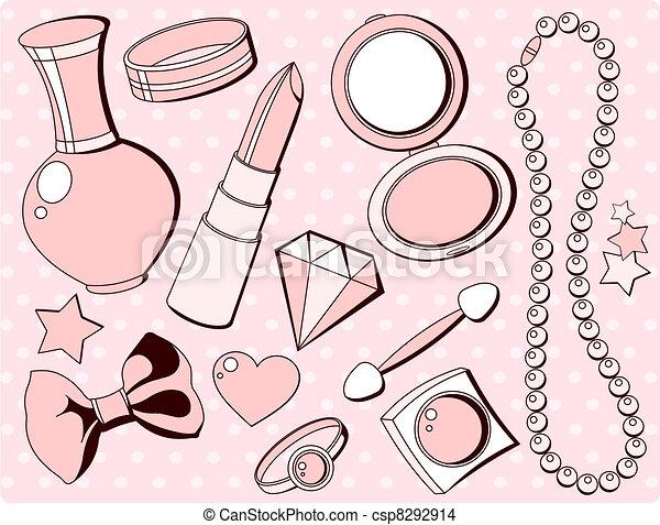 Vector , lindo, Moda, accesorios