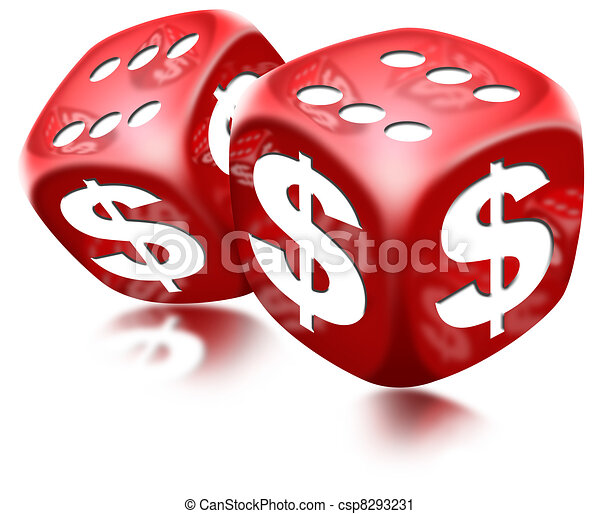 Dice Dollar Game - csp8293231