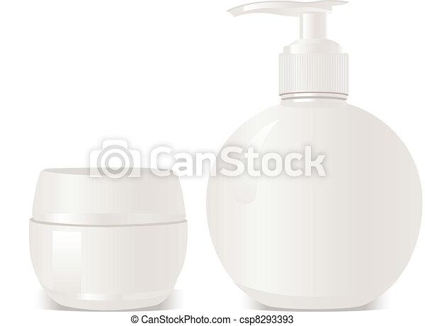 vector cosmetics soap and gel conta - csp8293393