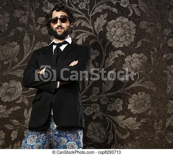 ridiculous business man - csp8293713