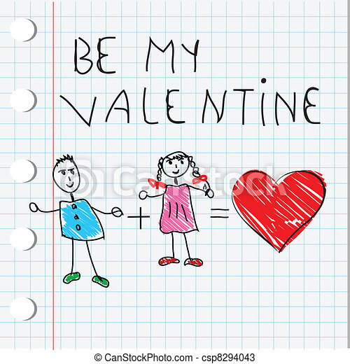 Love card for Valentine's Day - csp8294043