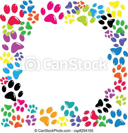 Frame made of animal paws - csp8294165