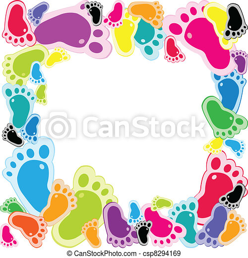 Frame made of foot steps - csp8294169
