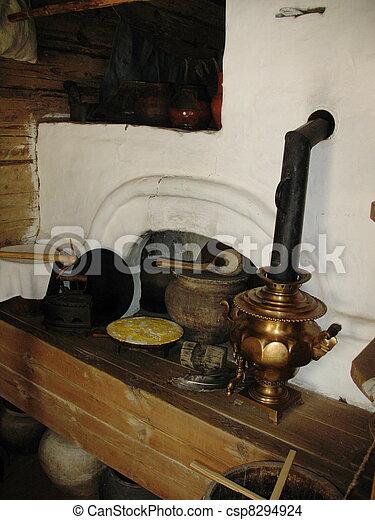 Stock foto van russische gereedschap kachels oud for Ustensiles de cuisine anciens