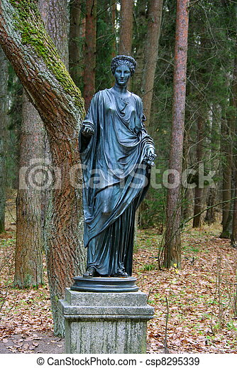Statue of the muse of poetry - csp8295339