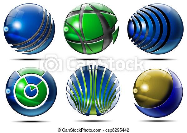 Business Sphere Logo - csp8295442
