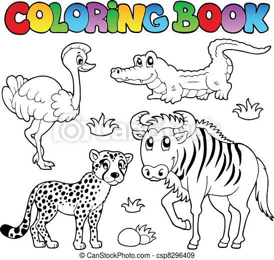 Coloring book savannah animals 2 - csp8296409