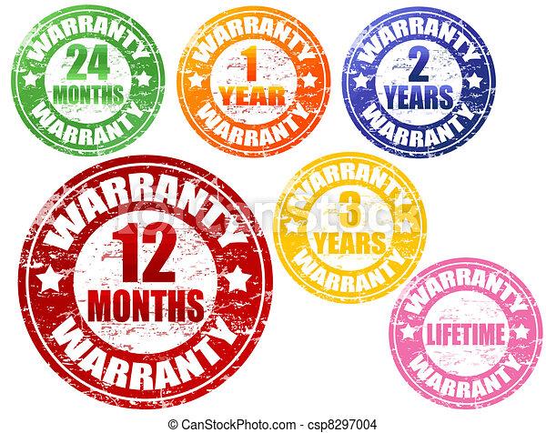 set of warranty stamps - csp8297004