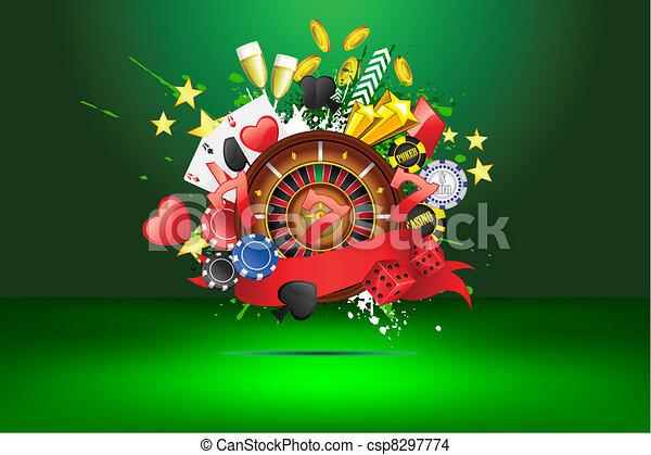 Grungy Casino - csp8297774
