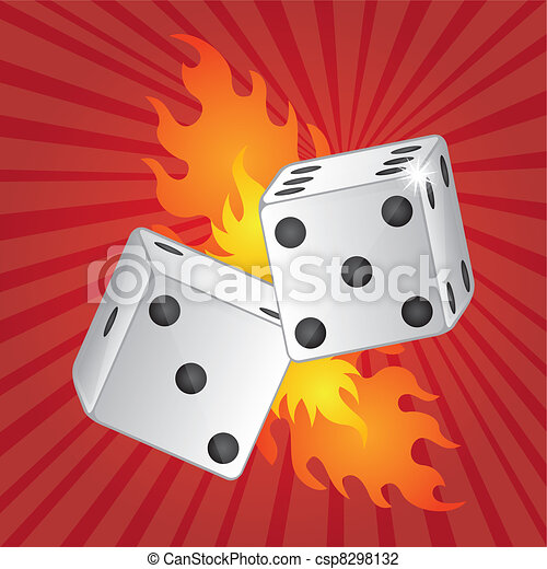 dices with fire - csp8298132