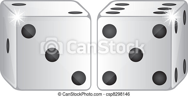 two dices vector - csp8298146