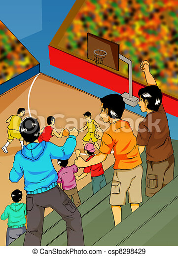 Watching Basket Ball - csp8298429