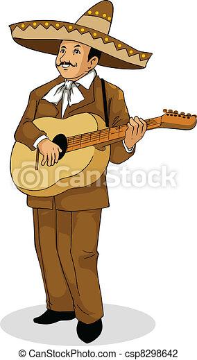 Mexican Musician - csp8298642