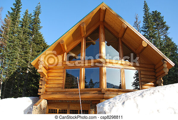 Log Home - csp8298811