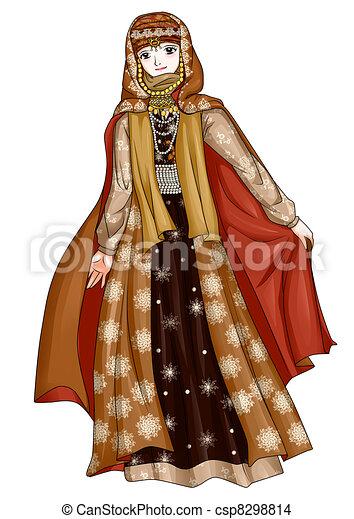 Arab Traditional Costume - csp8298814