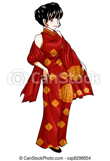 Chinese Traditional Costume - csp8298854