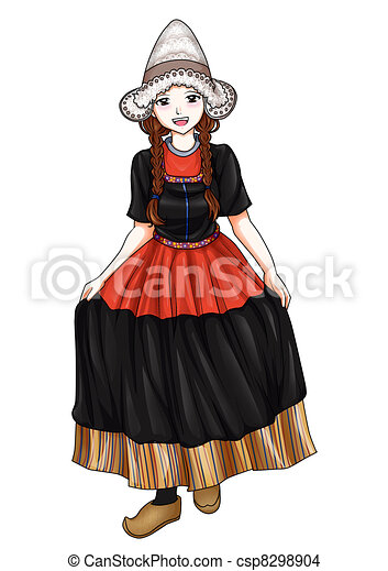 Dutch Traditional Costume - csp8298904
