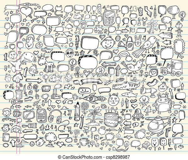 Notebook Doodle Sketch Design set - csp8298987