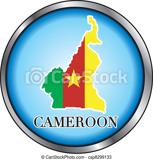 Cameroon Round Button - csp8299133