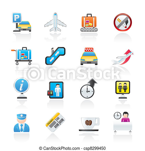Airport and transportation icons - csp8299450