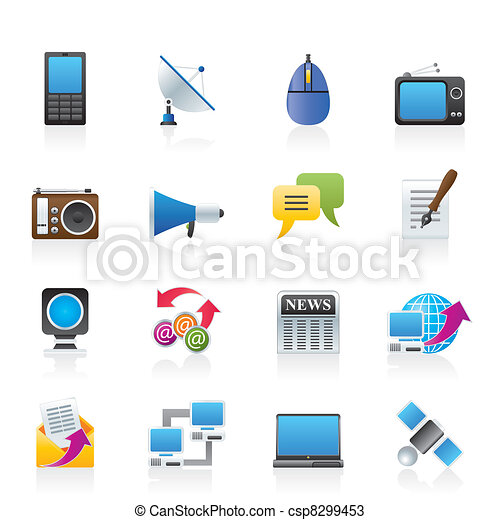 Communication and Technology icons  - csp8299453