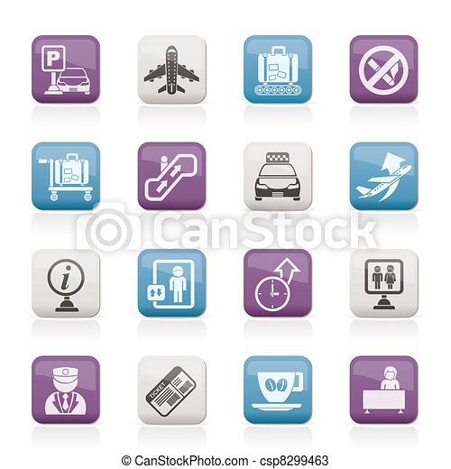 Airport and transportation icons - csp8299463