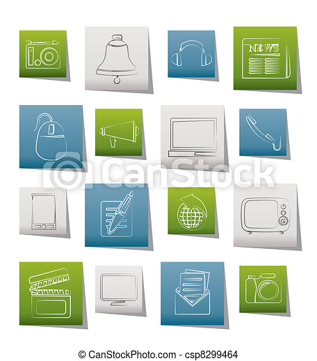 Communication and media icons - csp8299464