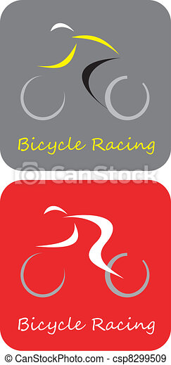 Bicycle Racing - vector icon - csp8299509