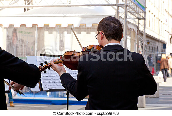 Concert in the street of Violinists, Trieste
