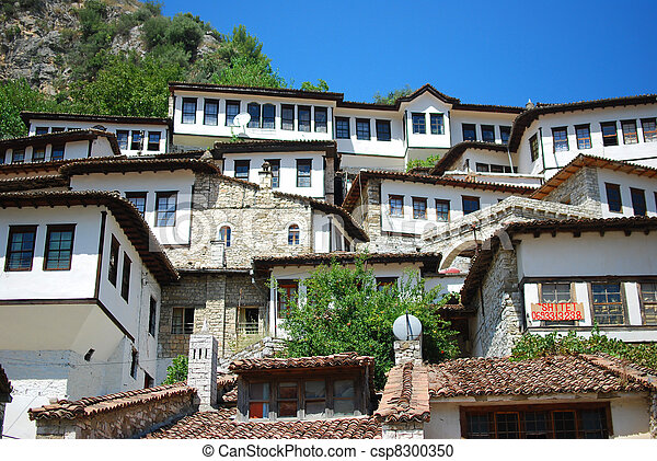 The buildings of the ancient city of Berat in Albania - csp8300350