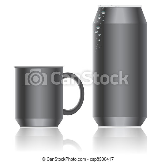 Aluminum packaging for beverages. Vector. - csp8300417