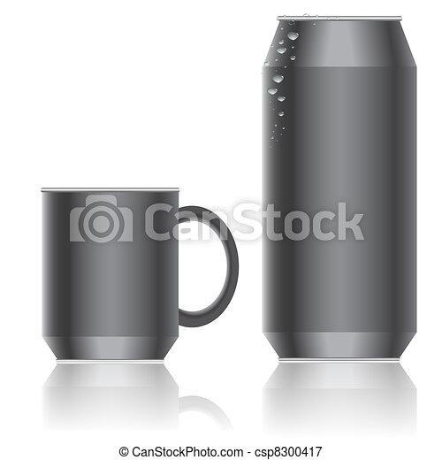 Aluminum packaging for beverages. Vector. - csp8300417
