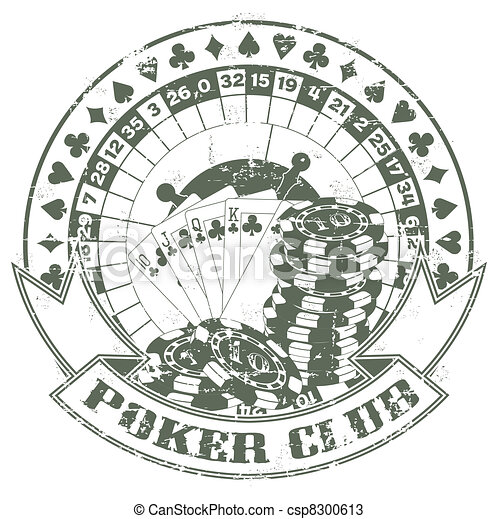 Poker club a stamp - csp8300613