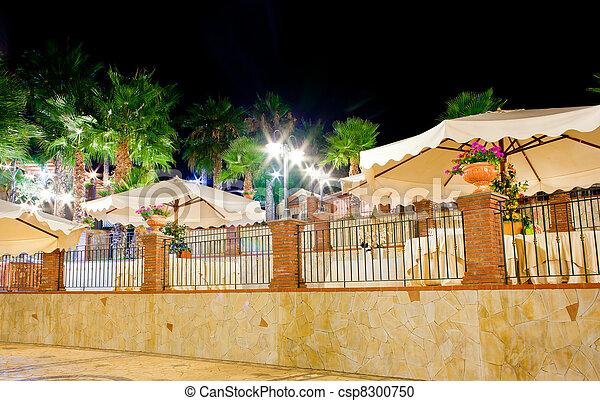 View of an outdoor restaurant