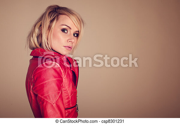 Provocative Fashionable Blonde Woman - csp8301231