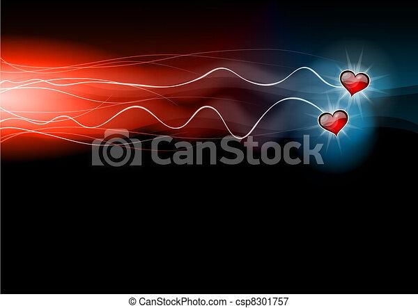 flashing hearts - csp8301757