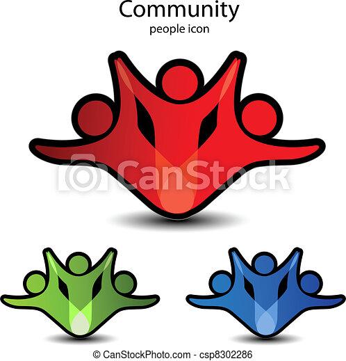 Vector human symbols - community icons - csp8302286