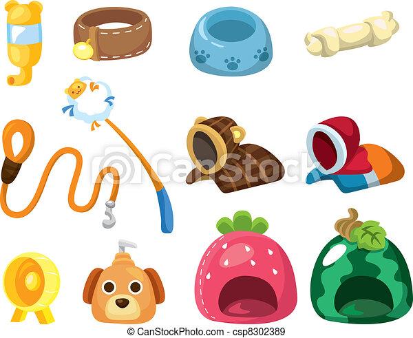 cartoon pet tool icon - csp8302389