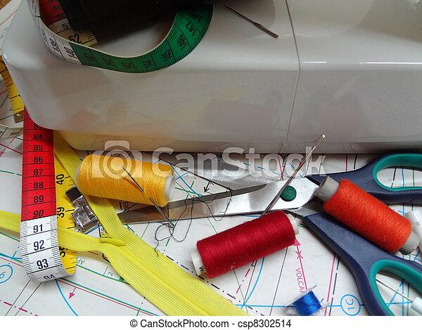 sewings belongings - csp8302514