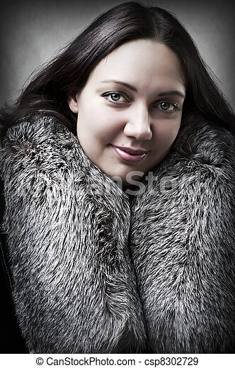 Fashion portrait of young adult  sexy woman - csp8302729