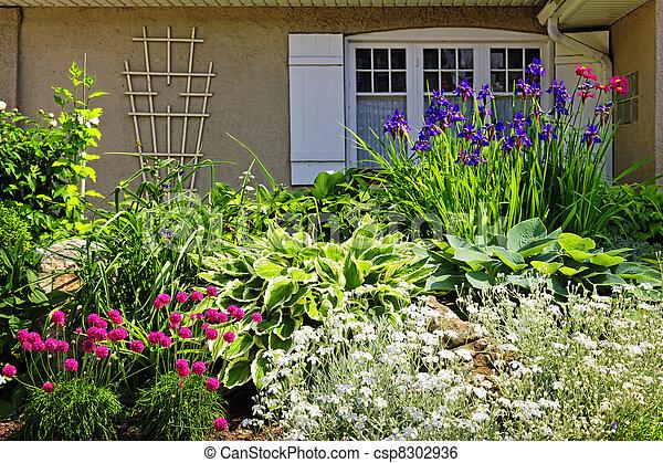 Residential garden landscaping - csp8302936