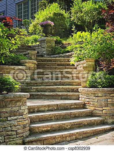 Stock Fotografier av Landskapsarkitektur, sten, trappa - naturlig ...