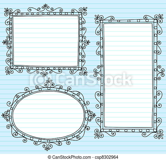 Picture Frame Borders Vecto Doodles - csp8302964