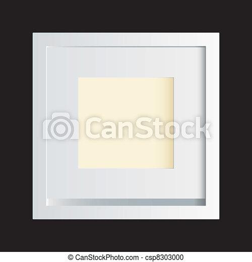 White photo frame black - csp8303000